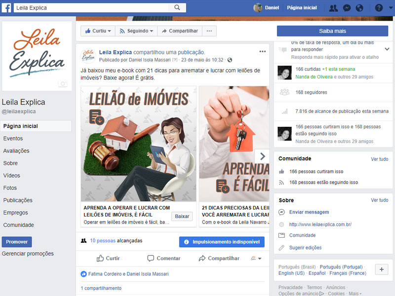 Landing Pages e Facebook