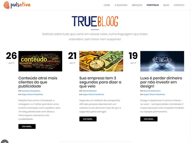 Site Institucional e Blog